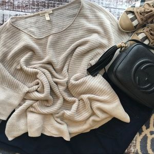 EILEEN FISHER Linen Knit Striped Short Sleeve Top